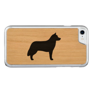 Siberian Husky Silhouette Carved iPhone 8/7 Case