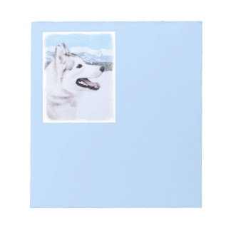 Siberian Husky (Silver and White) Notepad