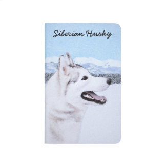Siberian Husky (Silver and White) Painting Dog Art Journal