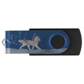 Siberian Husky Snowflake USB Flash Drive