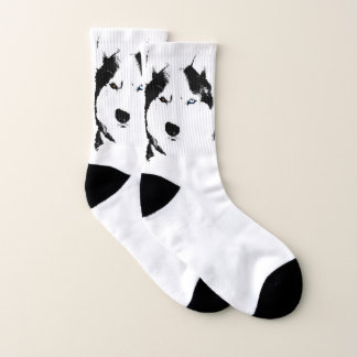 Siberian Husky Socks Husky Eyes Socks Customize