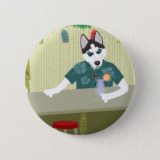 Siberian Husky Tiki Bar 2 Inch Round Button