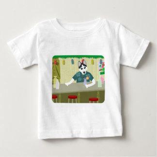 Siberian Husky Tiki Bar Baby T-Shirt