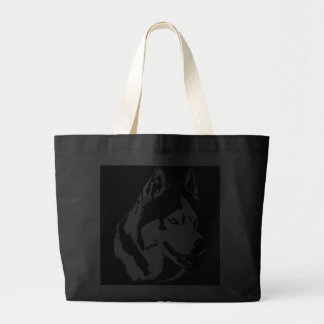 Siberian Husky Tote Bag Husky Wolf Dog Beach Bags