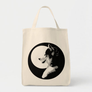 Siberian Husky Tote Bag Organic Husky Malamute Bag