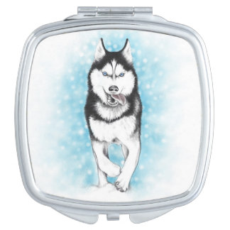 Siberian Husky Vanity Mirror