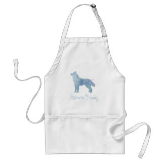 Siberian Husky Watercolor Design Aprons