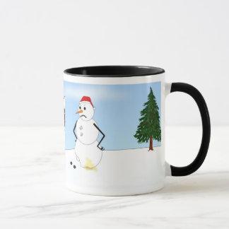Siberian Husky Winter Scene Mug