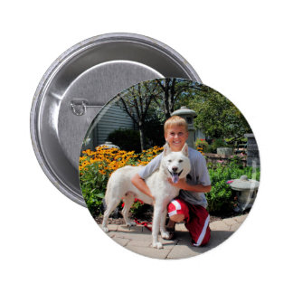 Siberian Husky Zoey 1 Button