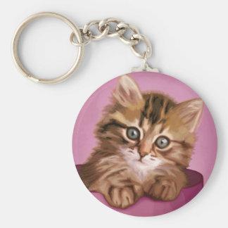 Siberian Kitten Keychain