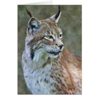 Siberian Lynx Card