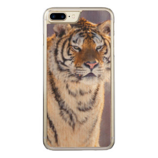 Siberian tiger in snow, China Carved iPhone 7 Plus Case