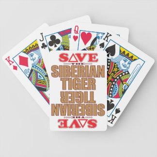 Siberian Tiger Save Poker Deck