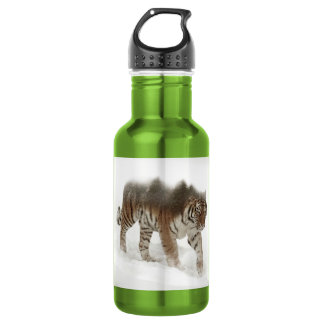 Siberian tiger-Tiger-double exposure-wildlife 532 Ml Water Bottle