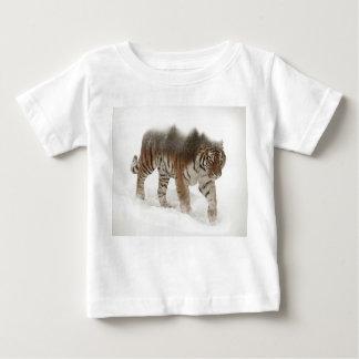 Siberian tiger-Tiger-double exposure-wildlife Baby T-Shirt