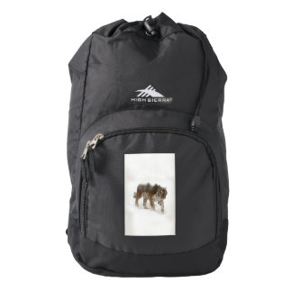 Siberian tiger-Tiger-double exposure-wildlife Backpack