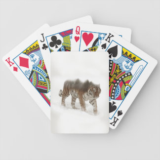 Siberian tiger-Tiger-double exposure-wildlife Bicycle Playing Cards