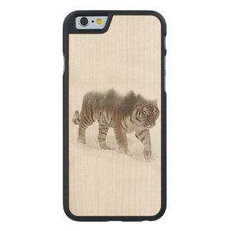 Siberian tiger-Tiger-double exposure-wildlife Carved Maple iPhone 6 Case