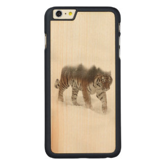 Siberian tiger-Tiger-double exposure-wildlife Carved Maple iPhone 6 Plus Case