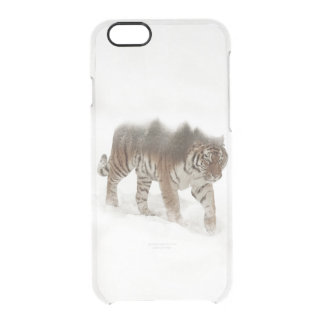 Siberian tiger-Tiger-double exposure-wildlife Clear iPhone 6/6S Case