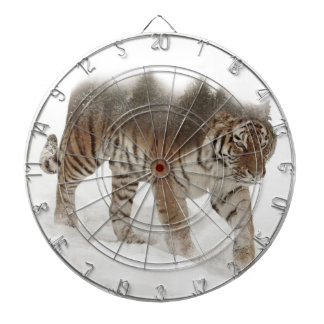 Siberian tiger-Tiger-double exposure-wildlife Dartboard