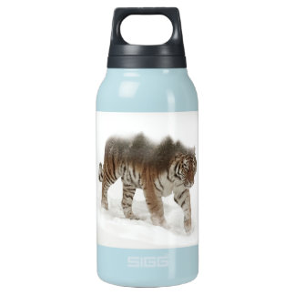 Siberian tiger-Tiger-double exposure-wildlife Insulated Water Bottle