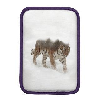 Siberian tiger-Tiger-double exposure-wildlife iPad Mini Sleeve