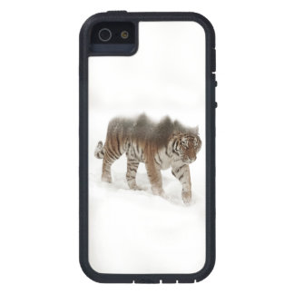 Siberian tiger-Tiger-double exposure-wildlife iPhone 5 Cover