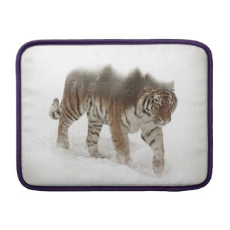 Siberian tiger-Tiger-double exposure-wildlife MacBook Sleeve