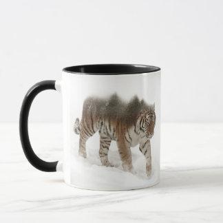 Siberian tiger-Tiger-double exposure-wildlife Mug