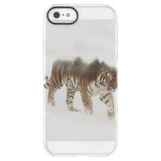 Siberian tiger-Tiger-double exposure-wildlife Permafrost® iPhone SE/5/5s Case