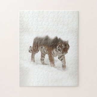 Siberian tiger-Tiger-double exposure-wildlife Puzzles