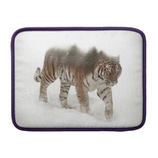 Siberian tiger-Tiger-double exposure-wildlife Sleeve For MacBook Air