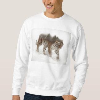 Siberian tiger-Tiger-double exposure-wildlife Sweatshirt