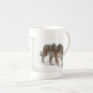 Siberian tiger-Tiger-double exposure-wildlife Tea Cup