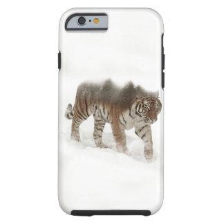Siberian tiger-Tiger-double exposure-wildlife Tough iPhone 6 Case