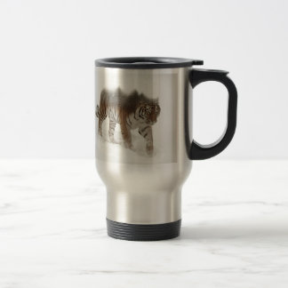 Siberian tiger-Tiger-double exposure-wildlife Travel Mug