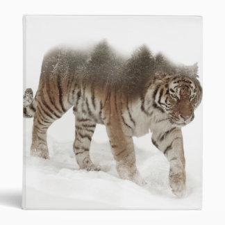 Siberian tiger-Tiger-double exposure-wildlife Vinyl Binders