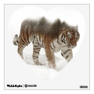 Siberian tiger-Tiger-double exposure-wildlife Wall Sticker