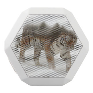 Siberian tiger-Tiger-double exposure-wildlife White Bluetooth Speaker