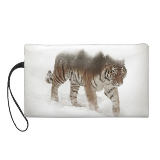 Siberian tiger-Tiger-double exposure-wildlife Wristlets