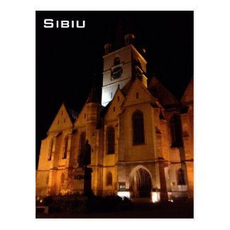 Sibiu by night postcard