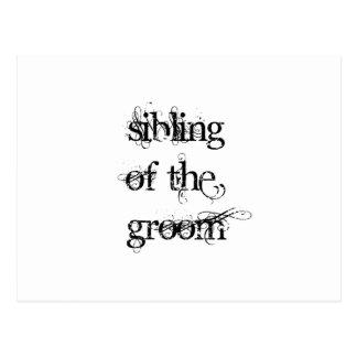 Sibling of the Groom Postcard