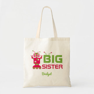 Sibling Robot Big Sister Pink Kids Personalized