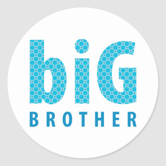 SIBLINGS COLLECTION - big brother {blue} Round Stickers