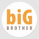 SIBLINGS COLLECTION - big brother {orange} Round Sticker
