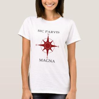 Sic Parvis Magna Women's White Basic TShirt