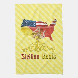Sicilian American Roots Tea Towels