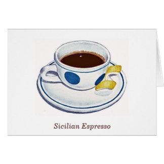 Sicilian Espresso Card