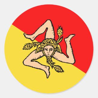 Sicilian, Italy Classic Round Sticker